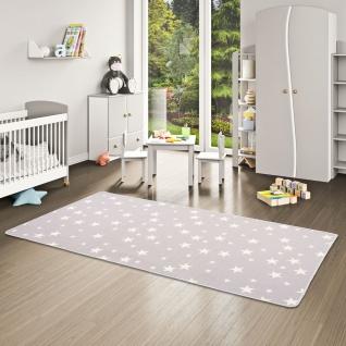 Kinder Spiel Teppich Sterne Grau