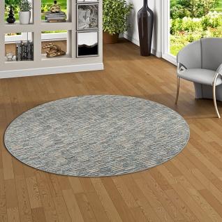 Streifenberber Teppich Modern Stripes Anthrazit Rund Kaufen Bei