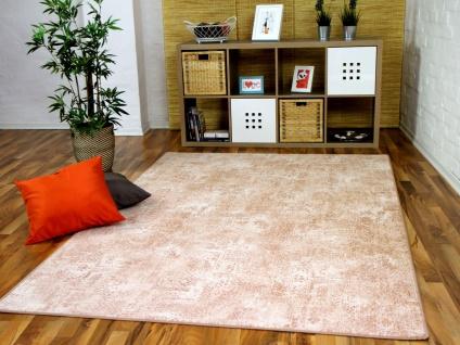 Designer Soft-Velours Teppich Vintage Terrakotta