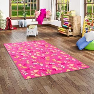 Kinder Spiel Teppich Schmetterling Pink