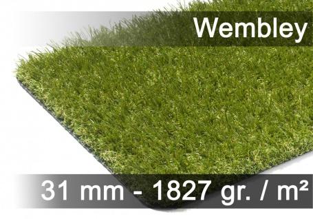 Luxus Kunstrasen Rasenteppich Wembley Grün