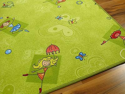 Kinder Spielteppich Grün Girls - Vorschau 5