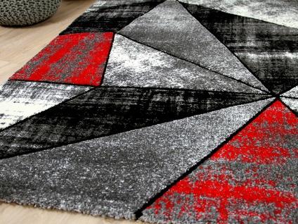 Designer Teppich Brilliant Rot Grau Magic Kaufen Bei Teppichversand24