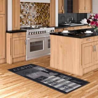 Küchenläufer Teppich Trendy Coffee Anthrazit