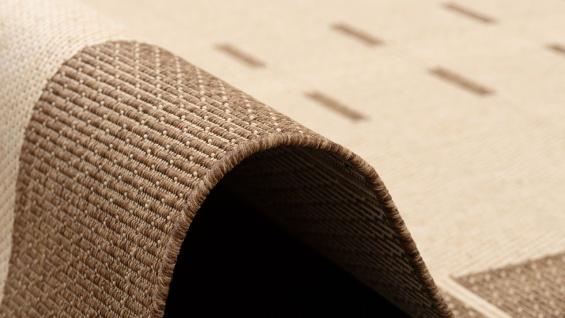 In- und Outdoor Teppich Flachgewebe Carpetto Bordüre Trend Karamell - Vorschau 3