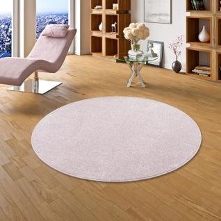 Luxus Soft Velours Teppich Shine Rosa Rund