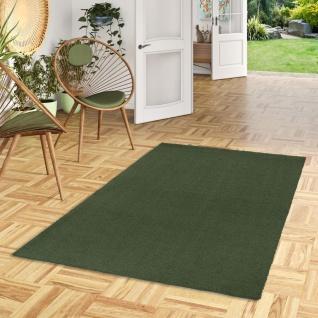 Luxus Hochflor Shaggy Teppich Velvet Grün