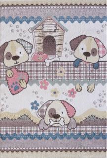 Kinder und Spielteppich Softstar Kids Hunde Pastell Bunt