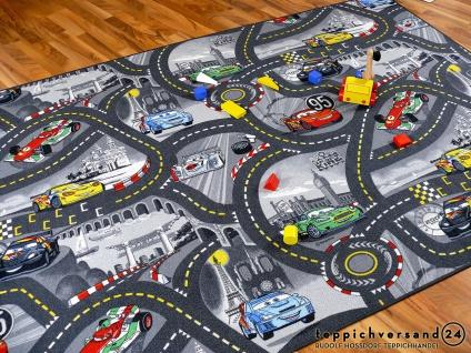 Kinder Spielteppich Disney Cars Grau in 24 Größen - Vorschau 1