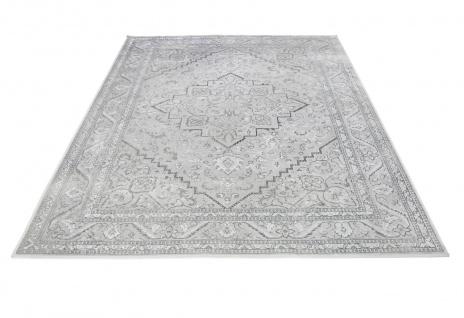 Orient Vintage Designer Teppich Famos Silber Bordüre