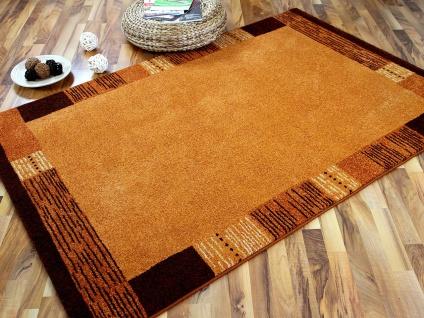 Designer Teppich Arizona Bordüre Terrakotta