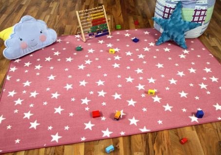 Kinder Spiel Teppich Sterne Rosa