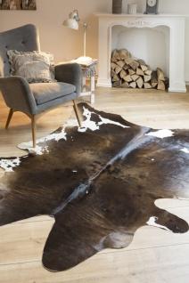 Fell-Teppich echtes Rinderfell Braun Gemustert