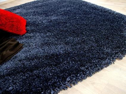 Hochflor langflor shaggy teppich luxury schiefer blau kaufen bei