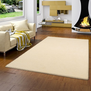 Hochflor Shaggy Teppich Palace Creme