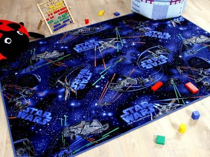 Kinder Spiel Teppich STAR WARS Blau