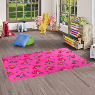 Kinder Spielteppich Bärenwelt Pink in 24 Größen
