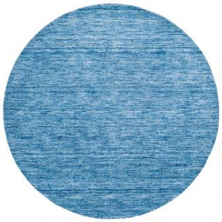 Natur Teppich Indo Gabbeh Ella Blau Rund - Vorschau 5
