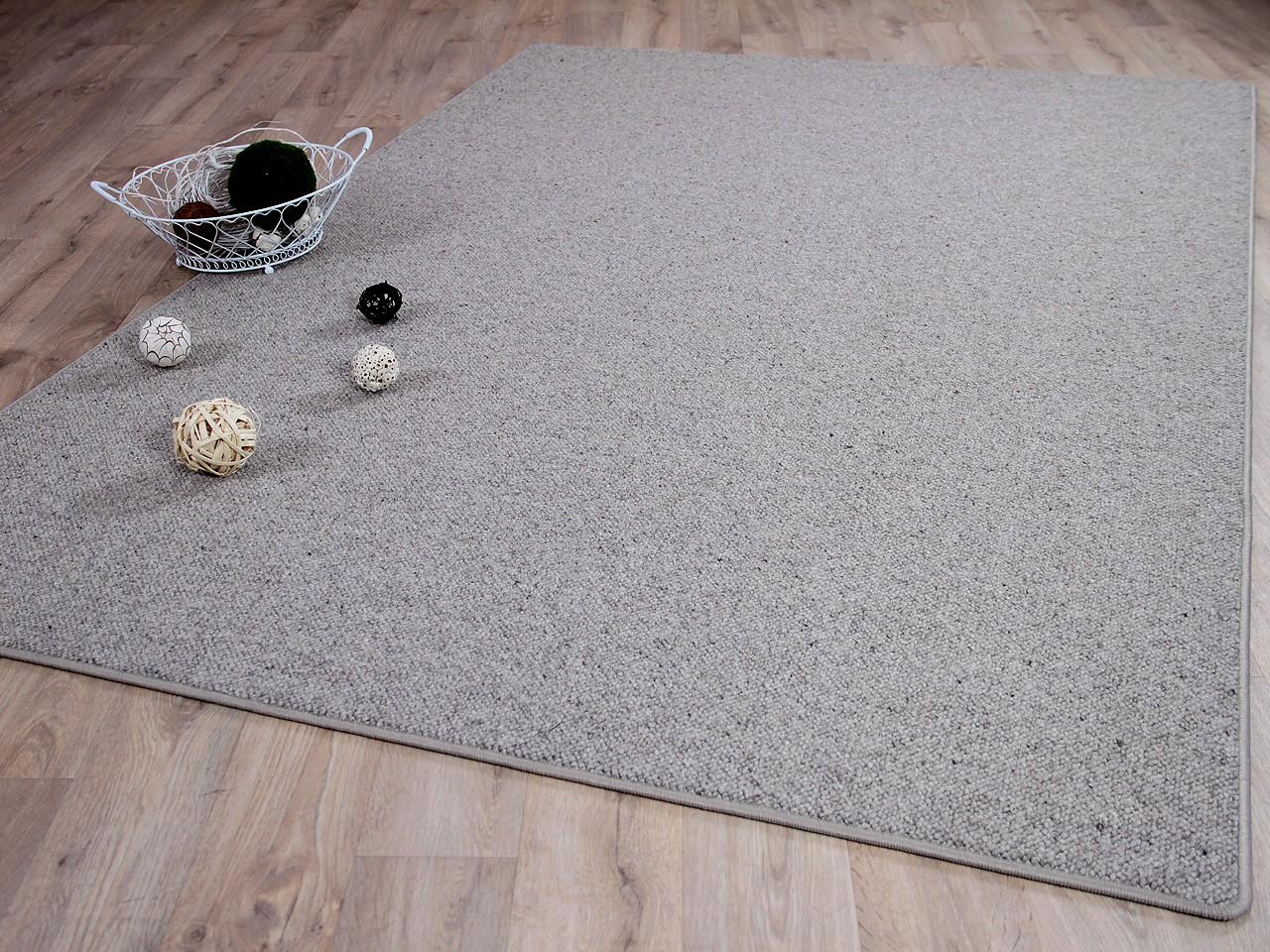 Natur Teppich Wolle Berber Grau Meliert Kaufen Bei Teppichversand24