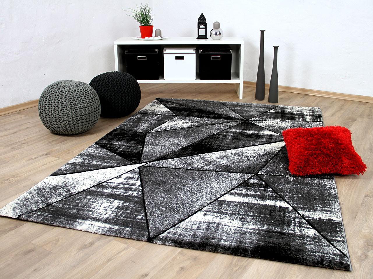 Designer Teppich Brilliant Grau Anthrazit Magic Kaufen Bei