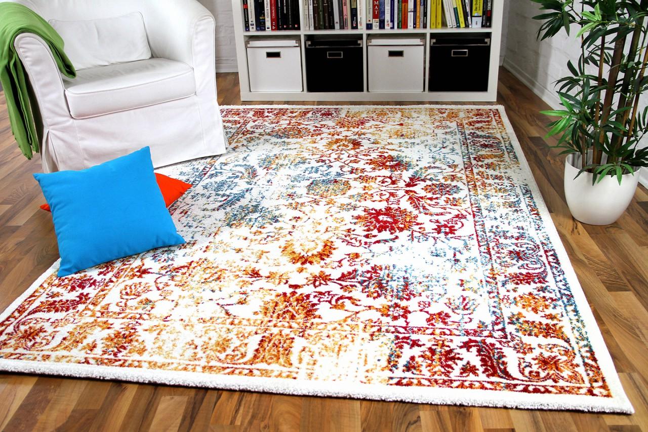 Möbel & Wohnen Teppiche Moderner Teppich Patchwork Bunt Vintage
