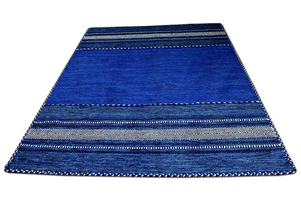 Natur Teppich Kelim Navarro Blau Kaufen Bei Teppichversand24