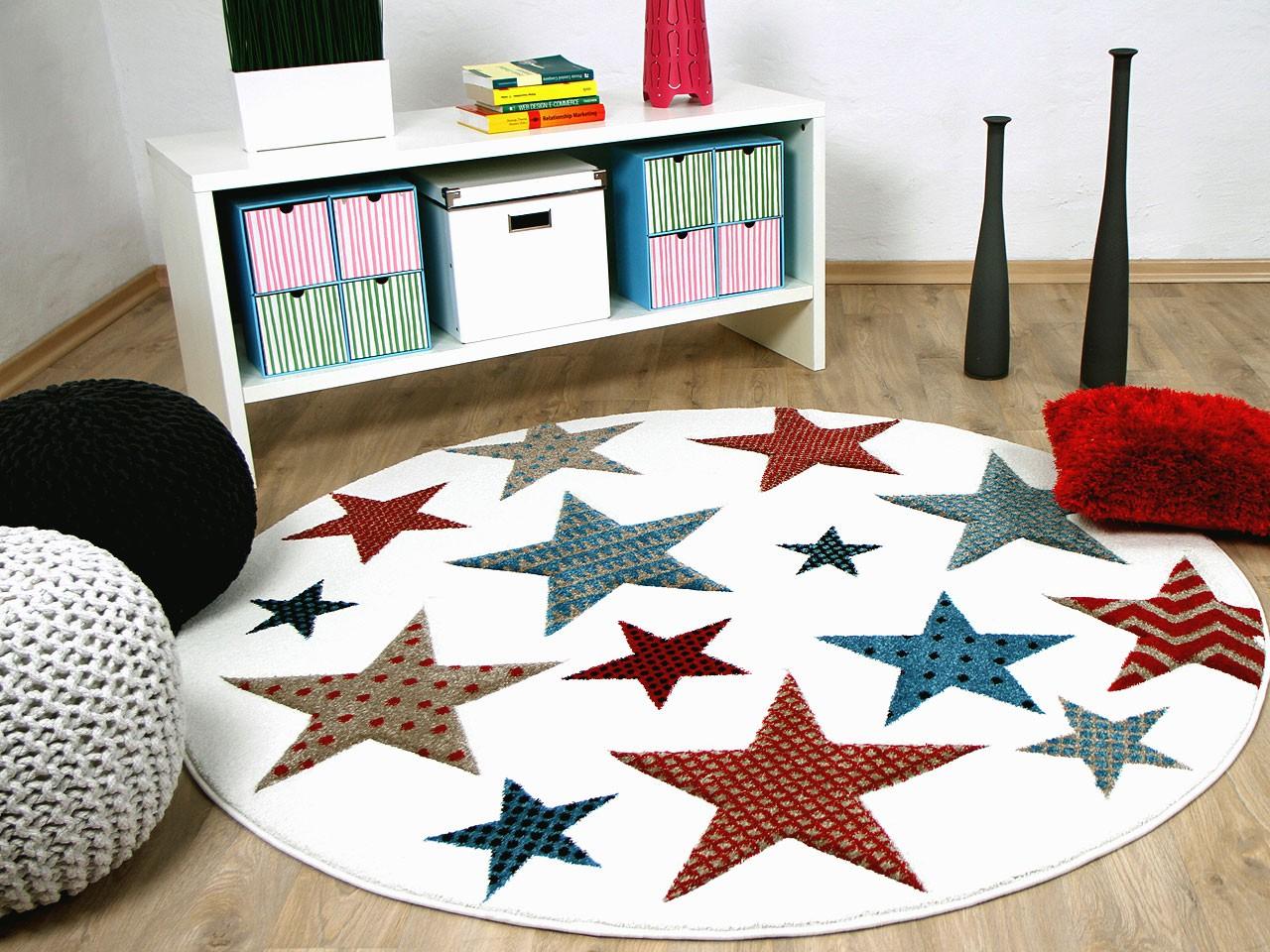teppich kinder rund, kinder und jugend teppich maui creme sterne bunt rund - kaufen bei, Design ideen