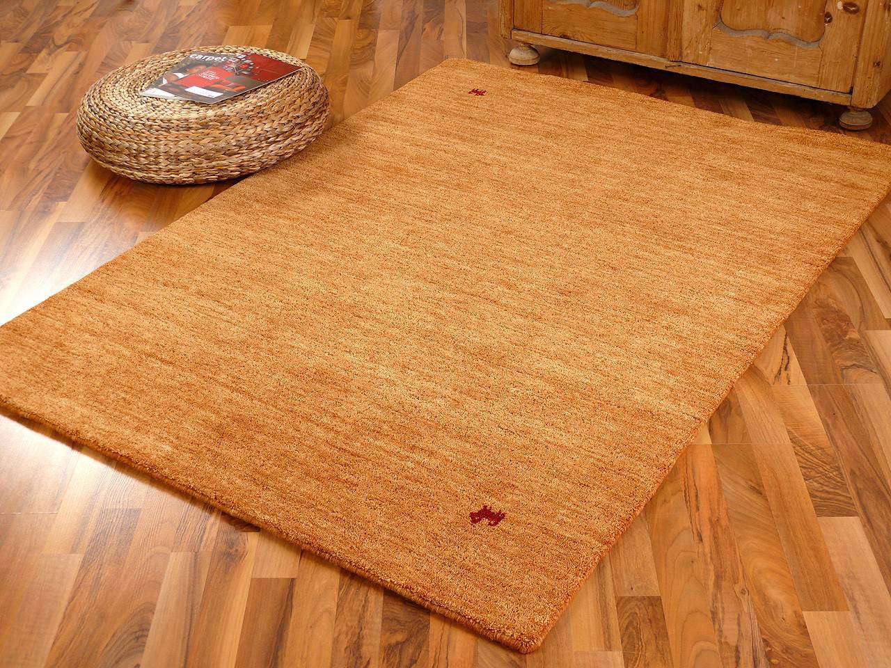 indo gabbeh teppich shiva rost uni kaufen bei teppichversand24. Black Bedroom Furniture Sets. Home Design Ideas