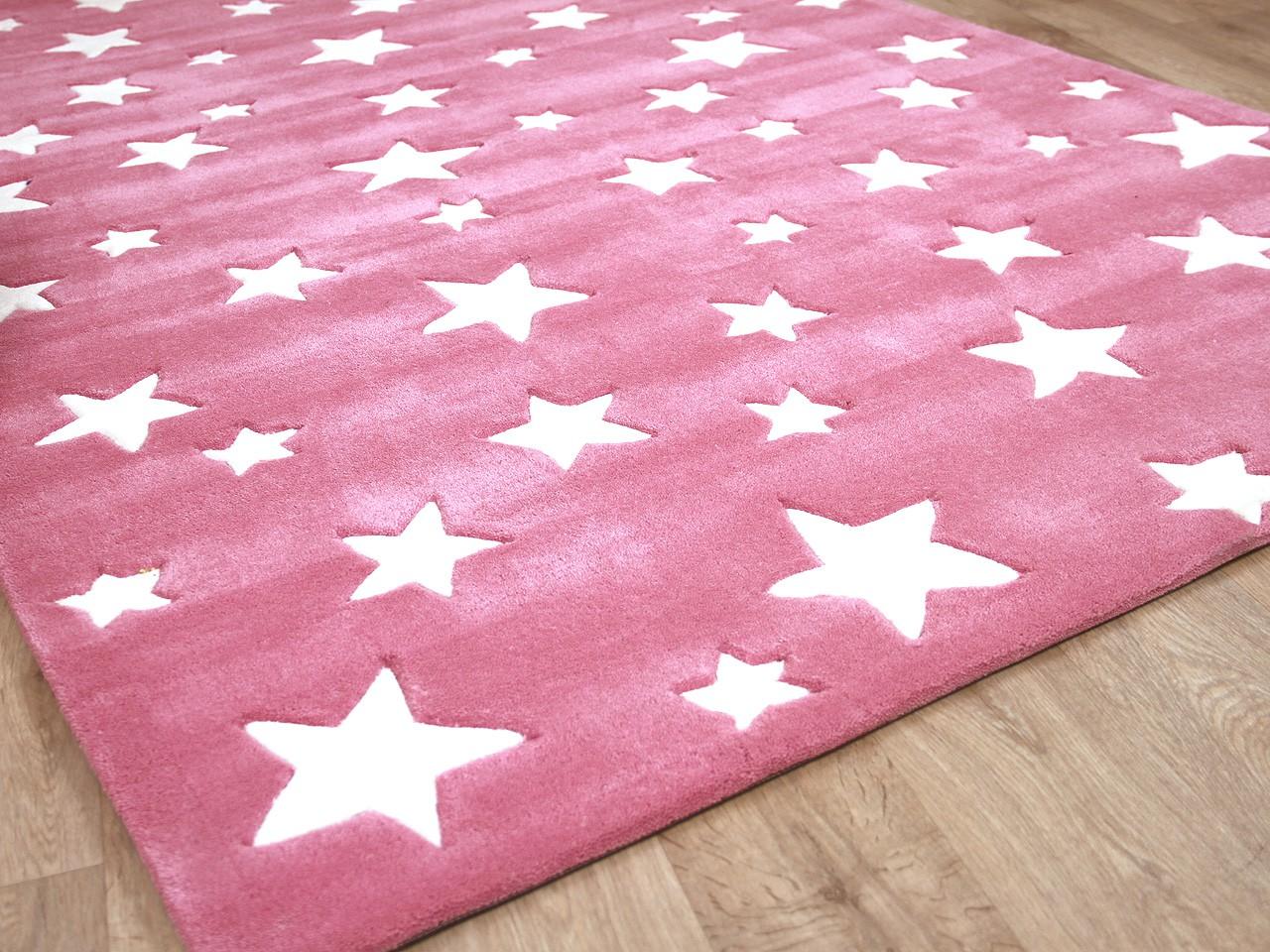 Kinderteppich sterne rosa  Lifestyle Kinderteppich Sterne Rosa - Kaufen bei teppichversand24