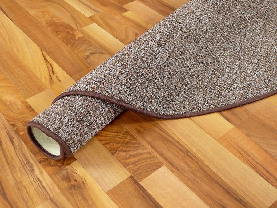schlingen velour teppich primo braun rund in 7 gr en. Black Bedroom Furniture Sets. Home Design Ideas