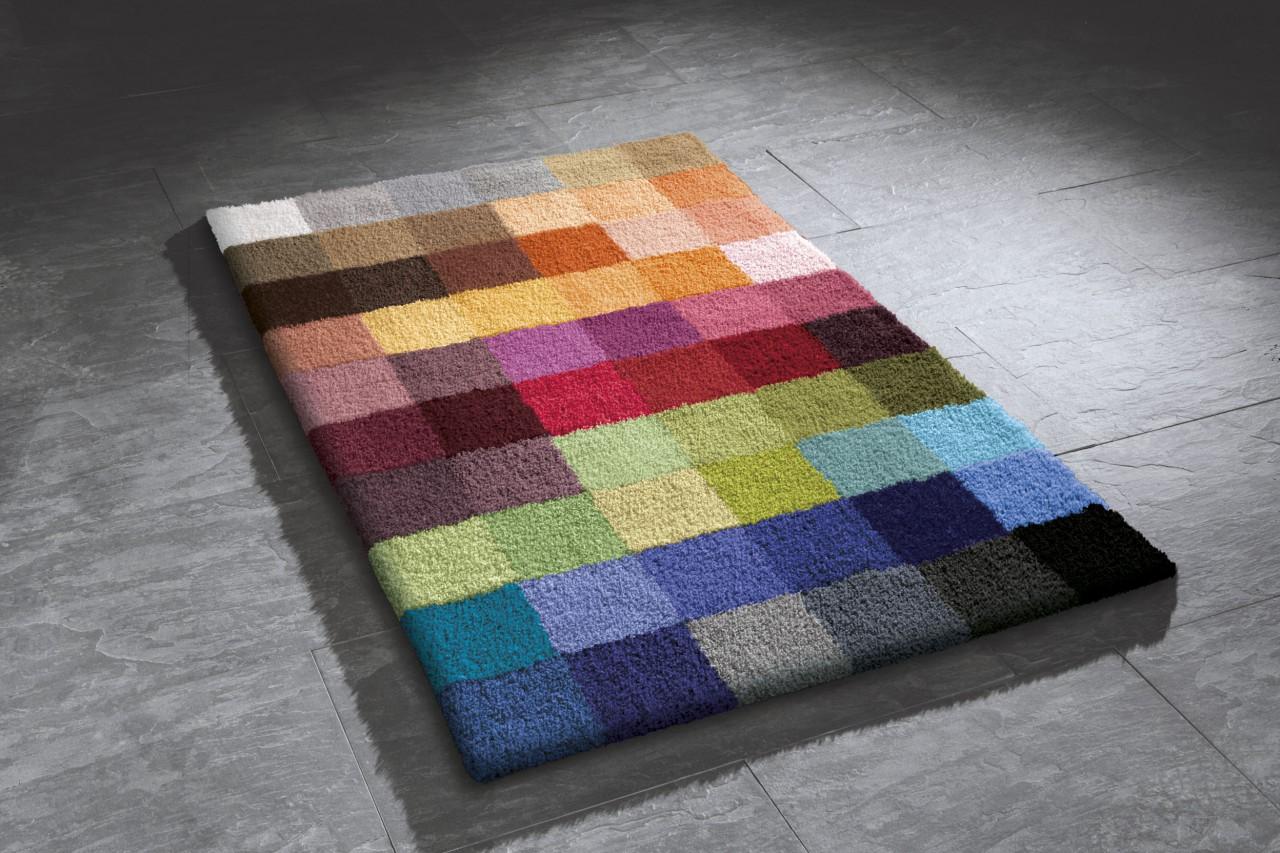 Kleine Wolke Badteppich Cubetto Bunt Pixel - Kaufen bei teppichversand24