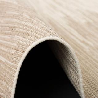In & Outdoor Teppich Flachgewebe Natur Panama Grau Beige Verlauf - Vorschau 3