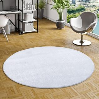 Luxus Soft Velours Teppich Shine Silbergrau Rund