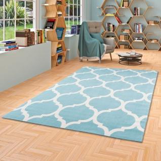 Soft-Touch Velours Designer Teppich Canvas Marokko Design Mint