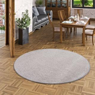 Luxus Soft Velours Teppich Shine Taupe Rund