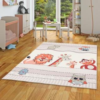 Luxus Super Soft Kinder Fellteppich Plush Kids Tierwelt Beige