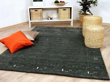 Natur Teppich Indo Gabbeh Indira Anthrazit - Vorschau 1