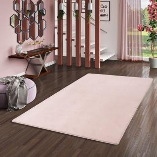 Hochflor Luxus Velours Teppich Touch Rosa