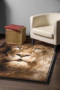 Designer Teppich Safari Löwe