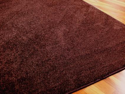 Hochflor Velours Teppich Triumph Schoko in 24 Größen
