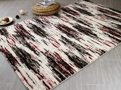 Designer Teppich Arizona Schwarz Rot Verlauf