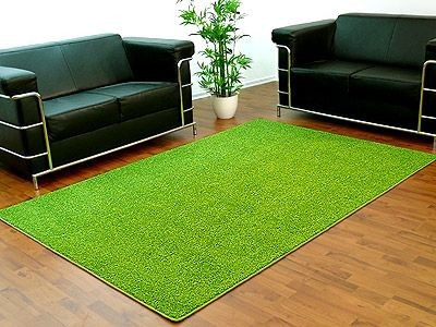 Hochflor Shaggy Teppich Prestige Mix Grasgrün