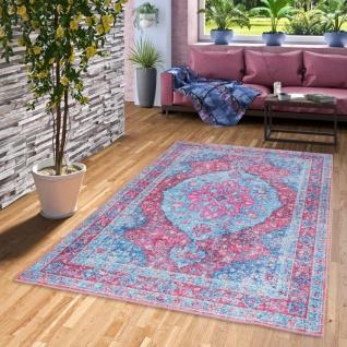 Luxus Vintage Designer Teppich Primus Orient Türkis