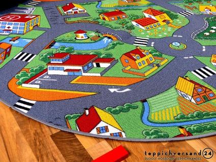 Kinder Spiel Teppich Little Village Grün Rund in 7 Größen - Vorschau 2