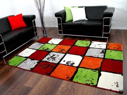 Designer Teppich Sevilla Bunt Karo - ABVERKAUF