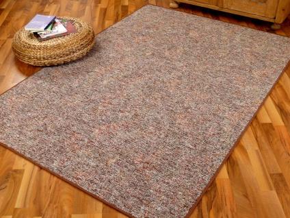 Schlingen Teppich Memory Braun Meliert in 24 Größen