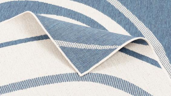 In- und Outdoor Teppich Beidseitig Flachgewebe Newport Blau Kreise - Vorschau 3