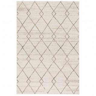 In- und Outdoor Teppich Flachgewebe Carpetto Beige Rauten - Vorschau 5