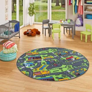Kinder Spiel Teppich City Play Rund