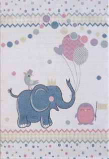 Kinder und Spielteppich Softstar Kids Elefant Pastell Bunt